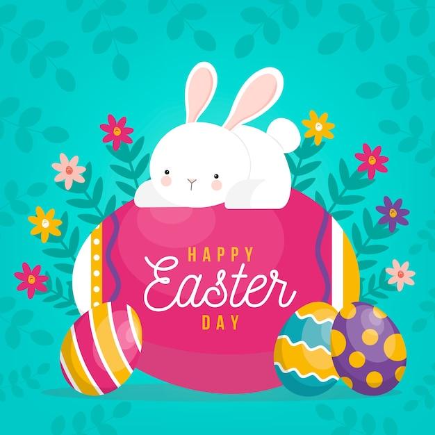 Śliczny Szczęśliwy Easter Dnia Tło Darmowych Wektorów