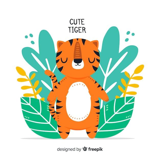Śliczny tygrys Darmowych Wektorów