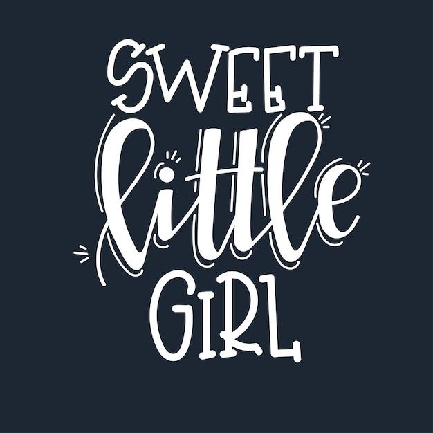 Słodka Mała Dziewczynka Motywacyjny Cytat Wyciągnąć Rękę. Premium Wektorów