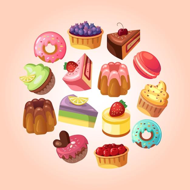 Słodka sklepowa tło ilustracja Darmowych Wektorów