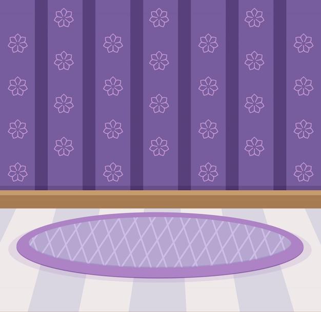 Słodka tapeta i kolor podłogi violet. Premium Wektorów