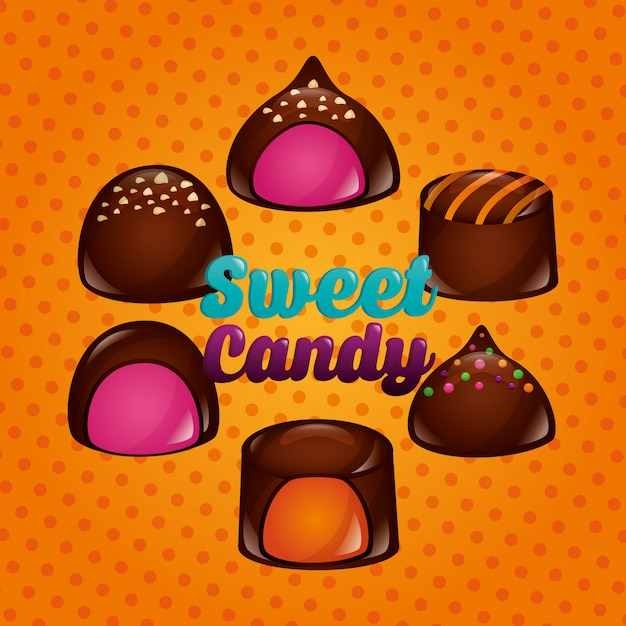 Słodki cukierek tło Darmowych Wektorów