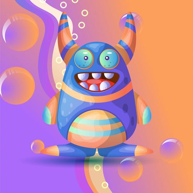 Słodki potwór ilustracja wektor Premium Wektorów