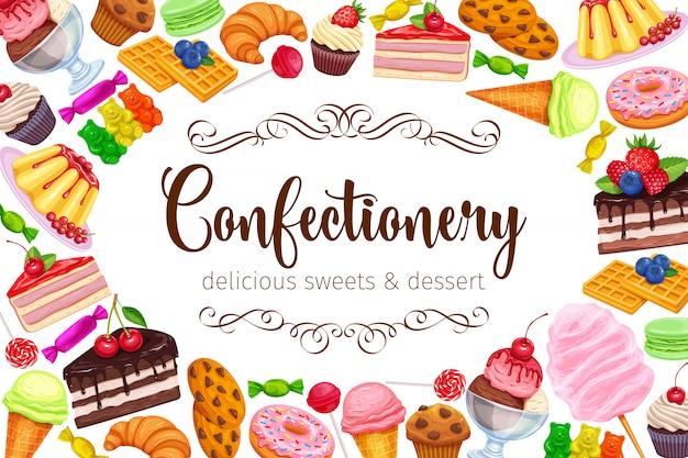 Słodycze I Słodycze Premium Wektorów