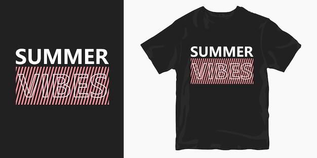 Slogan W Stylu Letniej Koszulki Premium Wektorów