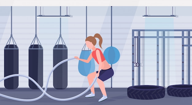 Słowa Kluczowe: Arkana Studio Lifestyle Dziewczyna Target195_1_ Z Wojownik Trening _ Gym Kobieta Kopiasty Pojęcie Długość ćwiczenie Folował Trening Gym Nowożytny Wnętrze Długość Horyzontalny Premium Wektorów