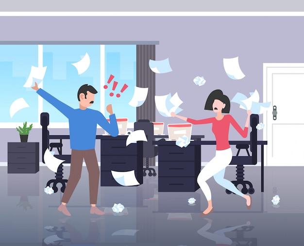 Słowa Kluczowe: Miotanie Para Folowa Haw Biznesmeni Konflikt Problem Horyzontalny Poj Trze Nieporozumienie Biznesmen Papiery Emocje Wn Praca Negatywno Officemates _ Kobieta Premium Wektorów