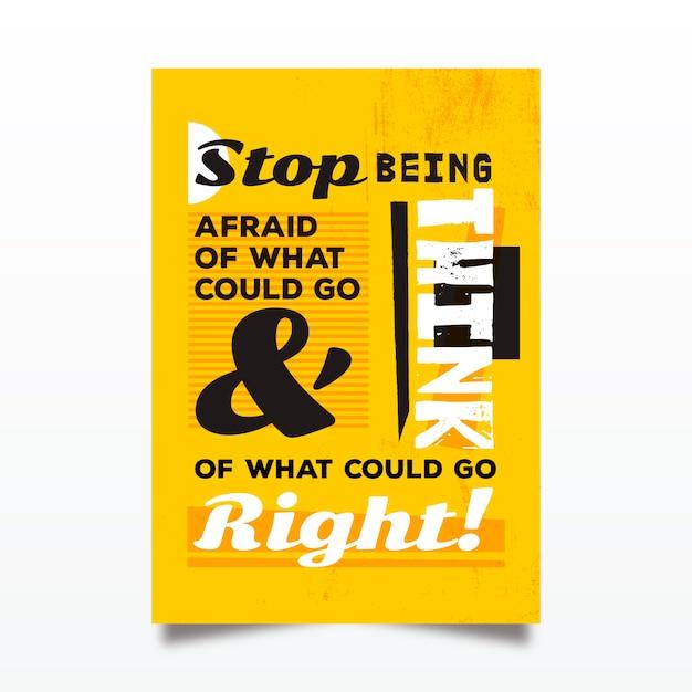 Słynny Projekt Cytuje Plakat Typograficzny Darmowych Wektorów
