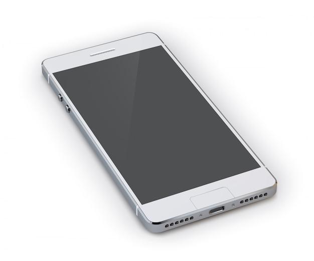 Smartphone 3d ilustracja Darmowych Wektorów