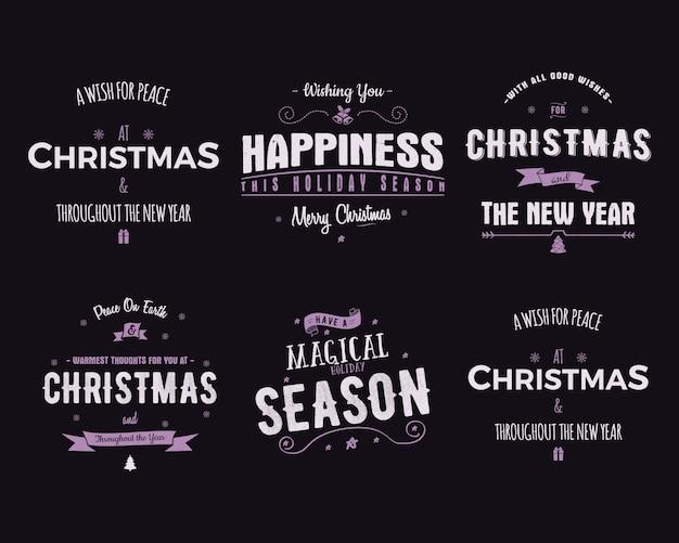 Śmieszne wesołych świąt, szczęśliwego nowego roku Premium Wektorów