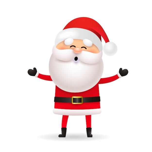 Śmieszny święty Mikołaj świętuje Boże Narodzenie Darmowych Wektorów