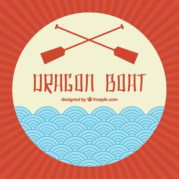 Smok łódź festiwal tle Darmowych Wektorów