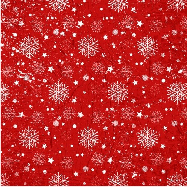Snoflakes na czerwonym tle tekstury Darmowych Wektorów