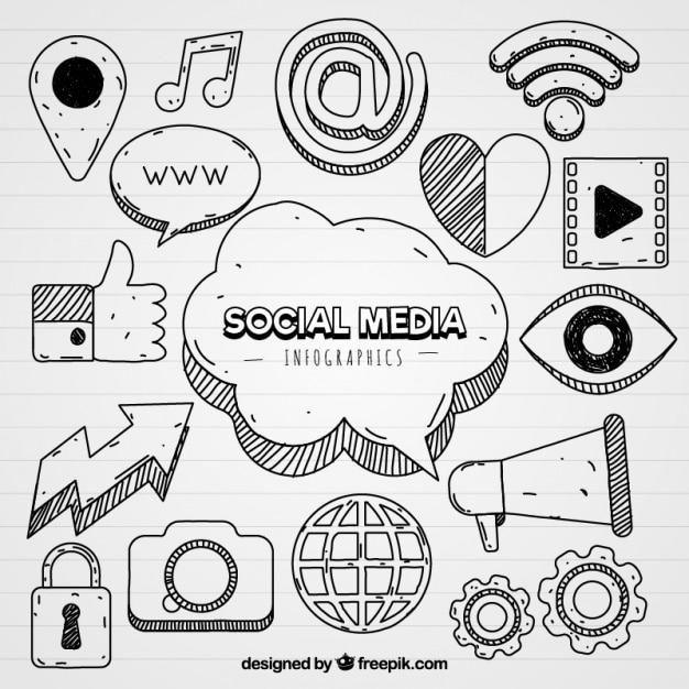 Social Media Icons Dla Infografiki Premium Wektorów