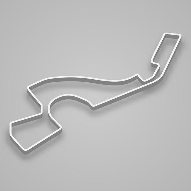 Soczi Circuit Dla Sportów Motorowych I Autosportu. Tor Wyścigowy Grand Prix Rosji. Premium Wektorów