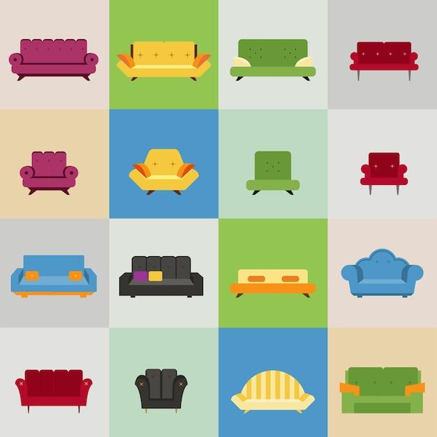 Sofa I Fotel Ikony Darmowych Wektorów