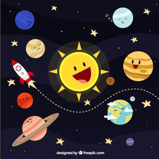 Solar system ilustracji Darmowych Wektorów
