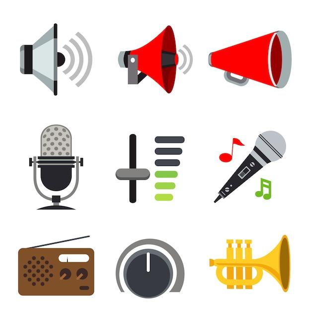 Sound Audio Loudspeaker Volume Voice Music Sign Icon Premium Wektorów