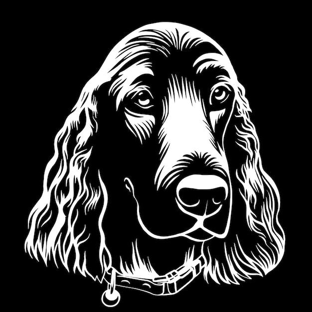 Spaniel pies ręcznie rysowane konspektu stockowa ilustracja wektorowa Premium Wektorów