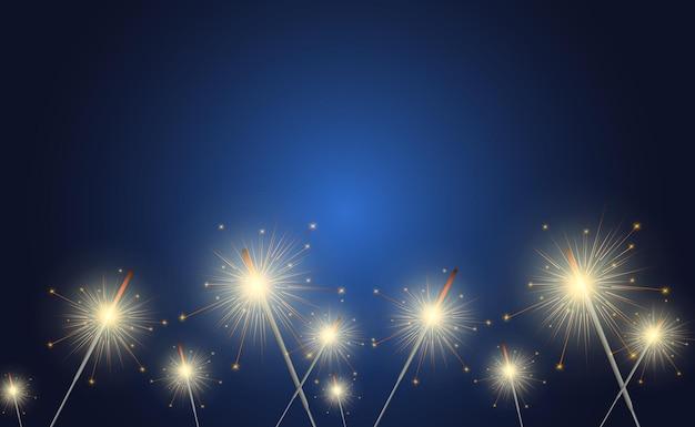 Sparkler Light. Premium Wektorów