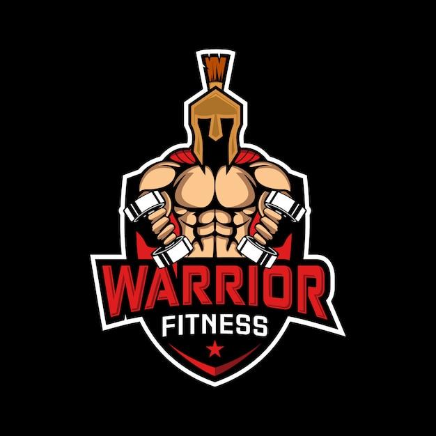 Spartański Wojownik Bawi Się Sprawności Fizycznej Ilustrację Premium Wektorów