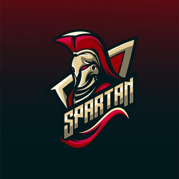 Spartańskie logo Premium Wektorów