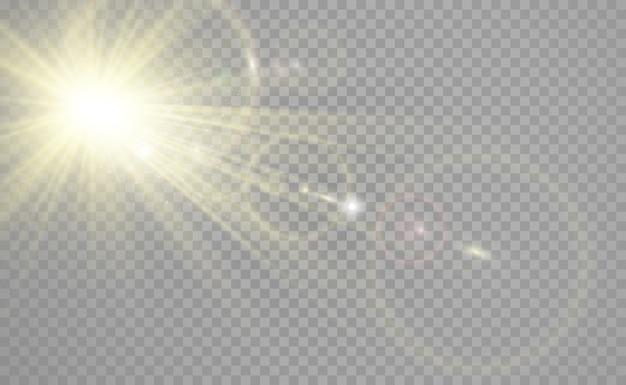 Specjalna Lampa Błyskowa, Efekt świetlny. Lampa Błyskowa Miga Promieniami I Reflektorem. Premium Wektorów
