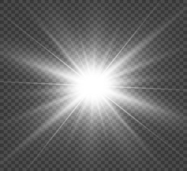 Specjalna Lampa Błyskowa Na Przezroczystym Tle Premium Wektorów