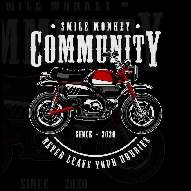 Społeczność Bike Monkey Premium Wektorów