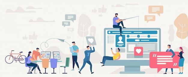 Społeczność Społeczności Społecznościowej. Ilustracja Wektorowa Premium Wektorów
