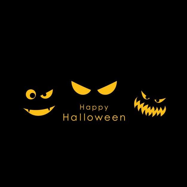 Spooky Halloween Tle Darmowych Wektorów