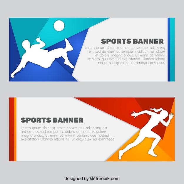 Sport banner set Darmowych Wektorów
