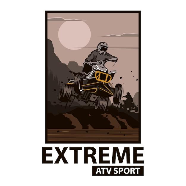 Sport ekstremalny atv Premium Wektorów