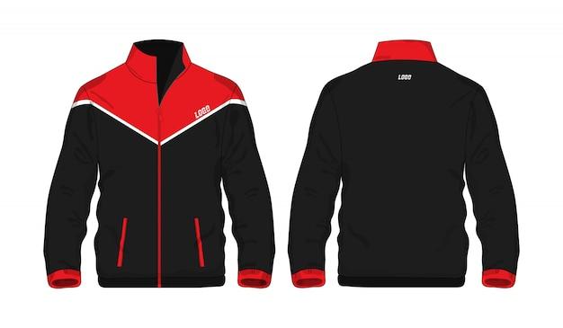 Sport Kurtki Czerwona I Czarna T Ilustracja Premium Wektorów
