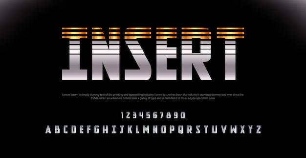 Sport modern alphabet czcionka i numer. typografia czcionki miejskie dla technologii, cyfrowej, filmowej. Premium Wektorów