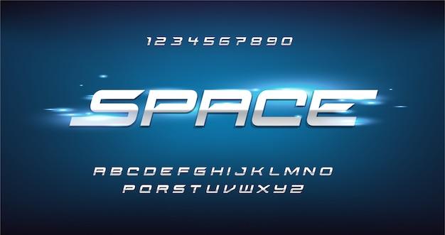 Sport Nowoczesna Futurystyczna Czcionka Alfabetu. Czcionki Typograficzne W Stylu Miejskim Dla Technologii, Cyfrowego, Projektowania Logo Filmowego. Premium Wektorów