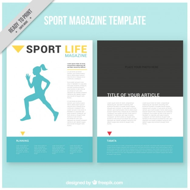 Sport szablon magazyn Darmowych Wektorów
