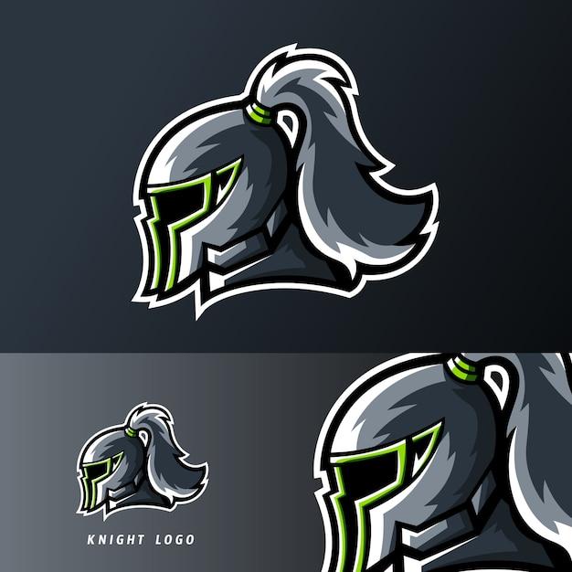 Sportowe logo króla rycerskiego lub esportowego Premium Wektorów