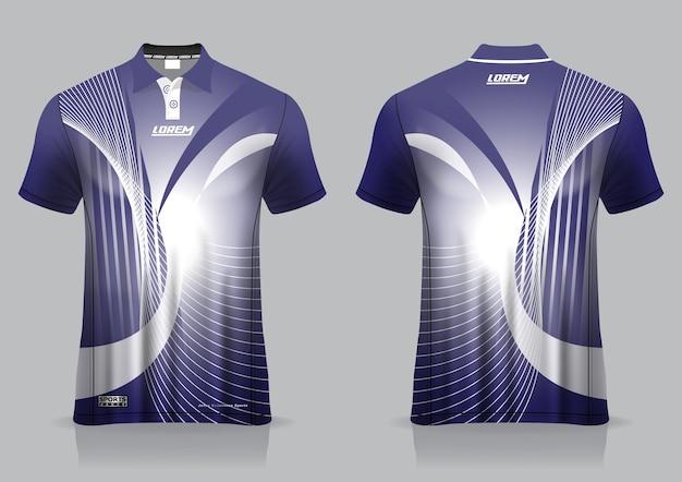 Sportowy Projekt Koszulki Polo, Makieta Koszulki Do Badmintona Na Jednolity Szablon Premium Wektorów