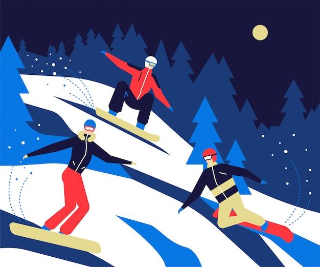 Sporty Zimowe Premium Wektorów
