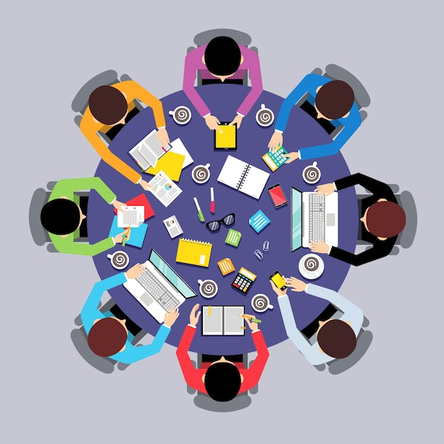 Spotkanie Biznesowe Wzór Tła Darmowych Wektorów