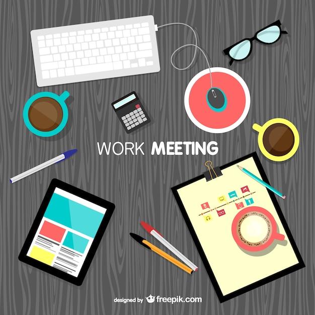 Spotkanie tło wektor pracy Darmowych Wektorów