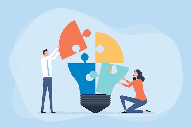 Spotkanie Zespołu Biznesowego W Celu Przeprowadzenia Burzy Mózgów Oraz Procesu Twórczego I Koncepcji Biznesowej Premium Wektorów