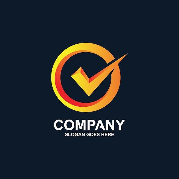 Sprawdź Projekt Logo Premium Wektorów