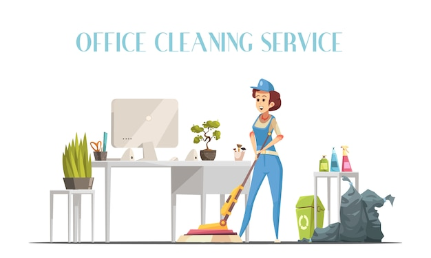Sprzątanie biur Darmowych Wektorów