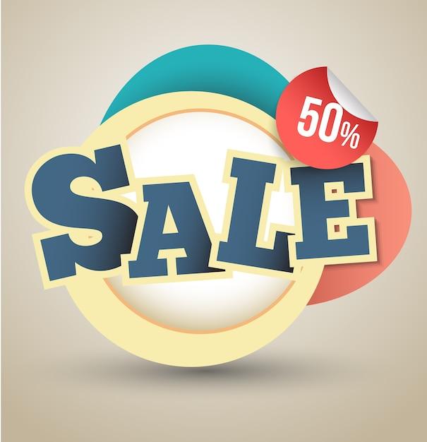 Sprzedam baner 50 procent Premium Wektorów
