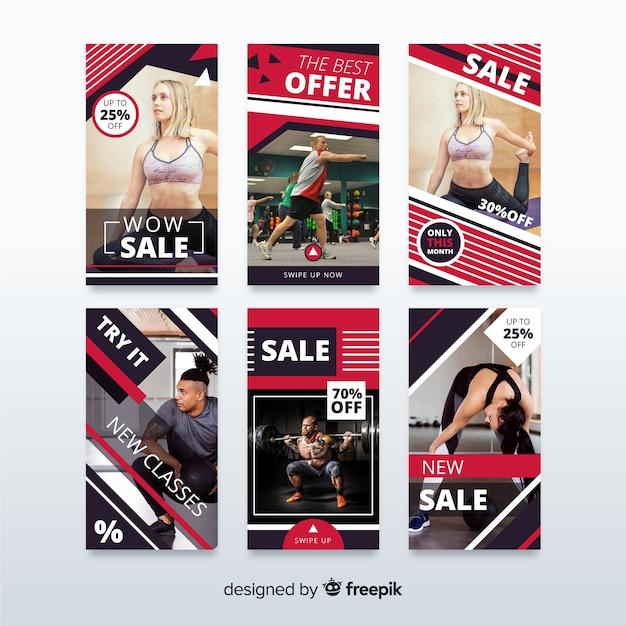 Sprzedam kolekcję banerów dla mediów społecznościowych Darmowych Wektorów