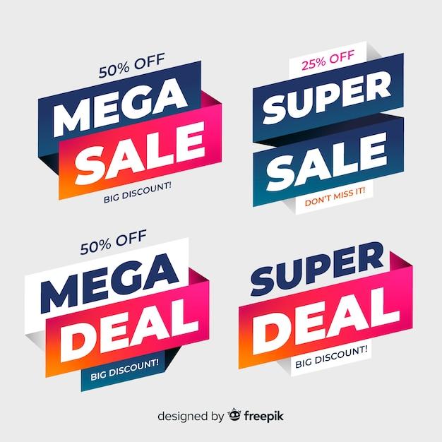 Sprzedam szablon transparentu, oferta rabatowa mega oferty Darmowych Wektorów