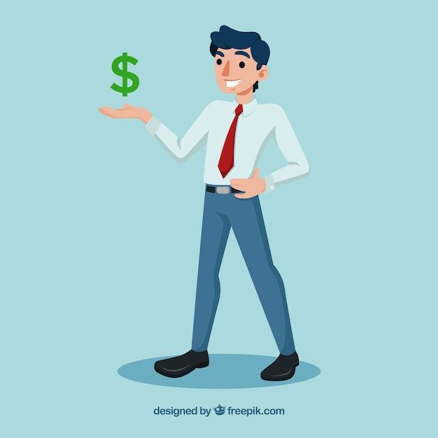 Sprzedawca I Znak Dolara Darmowych Wektorów