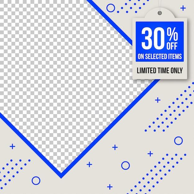 Sprzedaż Banner Web Społecznościowy Instagram Premium Wektorów